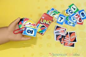 american doll uno cards craft american ideas