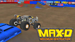 bigfoot monster truck st louis rigs of rods monster jam max d freestyle at smra st louis youtube