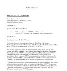 Assist Letter Of Demand Pro Cease And Desist Letter Demands Planned Parenthood Prez