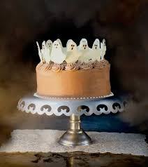 Scary Cakes For Halloween Dancing Ghosts Chocolate Coconut Cake Vintage Kitty
