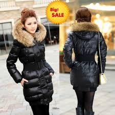 Womens Winter Coats Plus Size Plus Size New Ladies Down Jacket Real Fur Raccoon Fur Down Coat