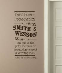 this house protected by smith wesson western wall decal letters loading zoom