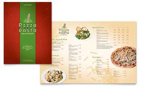 menu publisher template italian pasta restaurant menu template word publisher