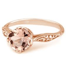 morganite gold engagement ring pink morganite 14k gold vintage solitaire engagement ring