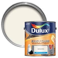 dulux easycare jasmine white matt emulsion paint 2 5l