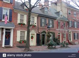 Outdoor Christmas Decorations B M by Colonial Houses In Philadelphia Pennsylvania With Christmas Stock