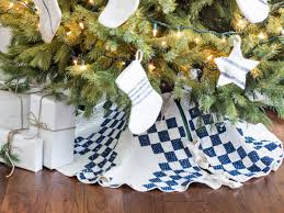 Quilted Christmas Tree Ornaments Turn An Old Quilt Into A Christmas Tree Skirt Hgtv