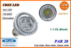 best xhigh power cree led par20 lamp dimmable 12w e27 gu10 led
