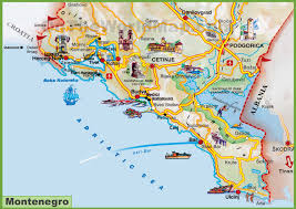 coast map montenegro maps maps of montenegro