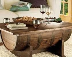 Wine Coffee Table Wine Barrel Table Etsy