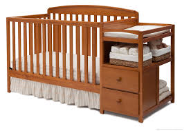 Oak Convertible Crib Nursery Decors Furnitures Oak Convertible Crib With Changing
