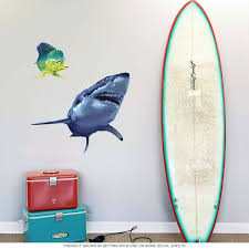 great shark fishing wall decal decor retroplanet com