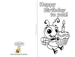 printable birthday cards for kids happy birthday cards printable