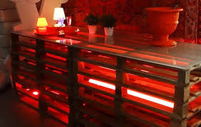 pallet buffet table large event rentals