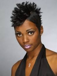spikey short black hairstyles spiky mohawk hairstyle for african