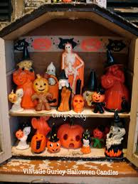 halloween candels chippy shabby vintage gurley halloween candles