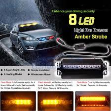 strobe lights for car headlights new car styling 8 led car police strobe flash light dash emergency 3