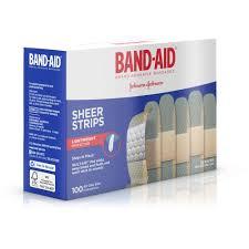 band aid sheer adhesive bandages 3 4