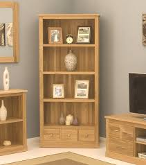 oak livingroom furniture 15 best collection of contemporary oak bookcase