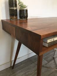 mid century desk open without drawers