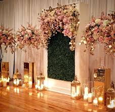 wedding backdrop grass wedding stage flower decorations indian floral and green grass