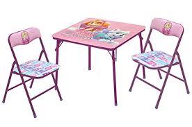 paw patrol kids table set amazon com nickelodeon paw patrol skye everest table chair set