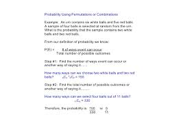 day 14 4 probability with permutations u0026 combinations
