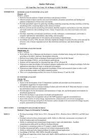 sle resume for business analyst role in sdlc phases system it systems analyst resume sles velvet jobs