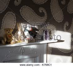 mantelpiece with ornaments stock photo royalty free image
