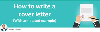 how to write a cover letter with example