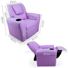 Leather Kids Chair Kids Padded Pu Leather Recliner Chair Purple Ruggabub Baby Goods