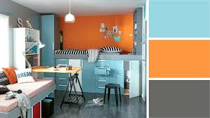 chambre ado couleur chambre ado couleur ado bleu gris orange ac leroy merlin idee