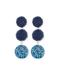 Beaded Chandelier Earrings 18 For Kenneth Jay Lane Beaded Three Drop Ball Earrings Neiman Marcus