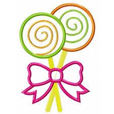 lollipops with swirls applique design