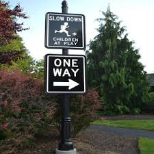 decorative signs and sign posts capital streetscapes