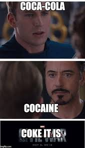 Coke Meme - marvel civil war 1 meme imgflip