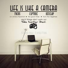 popular camera decal buy cheap camera decal lots from china camera life is like a camera wall stickers decals for kids rooms home decor diy cartoon wall