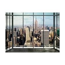 new york skyline window 1 wall murals touch of modern new york skyline window