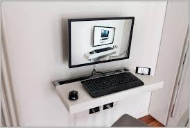 home design desktop desktop computer desk mount desk home design ideas regarding wall