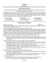 sample resume supervisor position it supervisor resume example