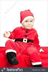 santa suit baby wearing santa suit image