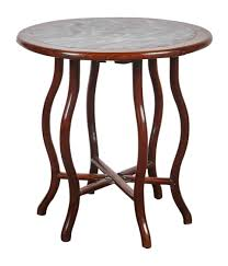 a late 19th century chinese round rosewood folding table asian