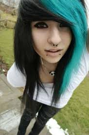 long hair equals hippie teal scene hairstyles for girls showing 14 pics for blue scene