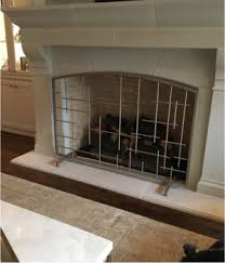 Free Standing Fireplace Screens by Fireplace Screens D U0027hierro Iron Doors Plano Tx