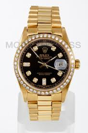 rolex on sale black friday rolex men u0027s day date president 18k gold black diamond dial u0026 bezel
