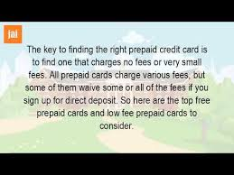 prepaid credit cards no fees are prepaid cards free