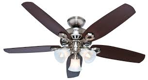 decoration pleasing hunter builder plus ceiling fan brushed