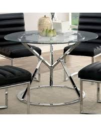 chrome round dining table spring savings are here 15 off furniture of america casey
