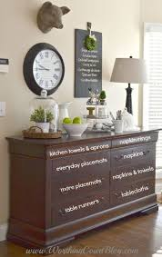 decorating a dining room buffet from clothes dresser to linen storage repurposing storage ideas