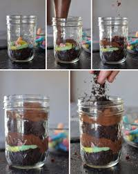 ghostly graveyard pudding dirt cups in mason jars awesome with